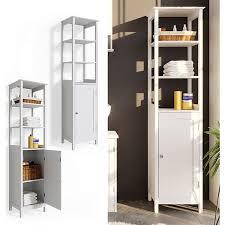vicco badschrank bianco hochschrank 160x40x32cm badregal badmöbel weiß holz badezimmerschrank im landhausstil