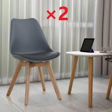 details zu style home 2 set stühle schalenstuhl esszimmer wartezimmer konferenz büro grau