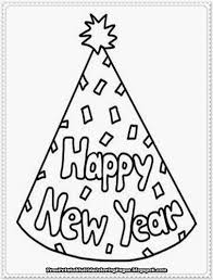 New Year Bell Printable Coloring Pages Years Book