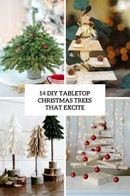 Diy Tabletop Christmas Trees That Excite Cover