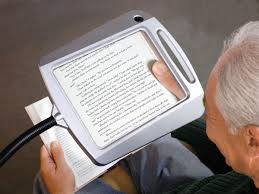 reading magnifier and lighted full page magnifier for reading