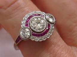 deco ruby and ring estate deco ct ruby engagement ring ebay seller