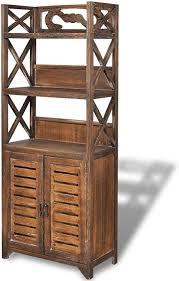 vidaxl badezimmerschrank holz 46x24x117 5 cm badschrank hochschrank badregal