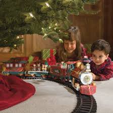The Family Tradition Of A Lionel Christmas Train Set Either Around Tree Or Along