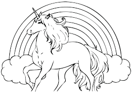 Unicorn Coloring Pages Printable Of Unicorns Rainbow Cute To Print