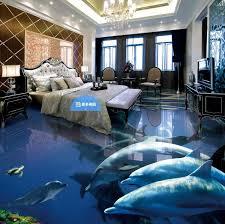 fototapete anpassen 3d bodenbelag badezimmer wohnzimmer schlafzimmer selbstklebende tapete delphin wohnkultur vinyl böden