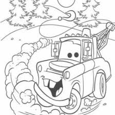 Preschool Coloring Pages Number 5 FREE Disney Cars