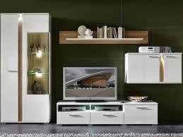 innostyle tv wohnwand spot weiß am lager komplett mit vitrine hängeelement unterteil und wandboard hochglanz inkl led beleuchtung