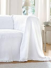 jetee de canapé hahn le jeté pour canapé et lit env 160x250cm blanc