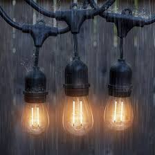 15 led bulb outdoor edison style string light 48 ft string