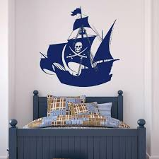 Swords And Skull Pirate Ship Wall Decal Vinyl Waterproof Home