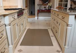 Modern Kitchen Decor Which Is Nuanced In Cream And Decorated With Rubber Mats For Coupled Mesmerizing Island White Painted