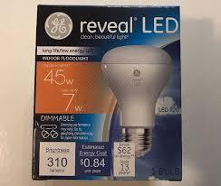 ge reveal led r20 45 watt bulbs indoor floodlight dimmable 310