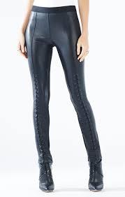 faux leather lace up legging
