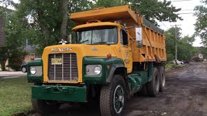 Old Mack Dump Truck - YouTube