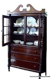 MIDDLE FURNITURE PANY ANTIQUE MAHOGANY CHINA CABINET