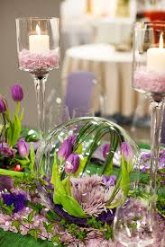 Spring Table Setting Globe Vase Turned On Its Side So Clever