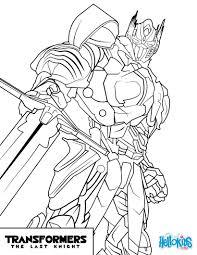 √ Coloriages Transformers Optimus Prime