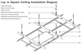 aluminum drop in ceiling tiles suspended tiles with fireproof