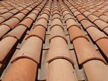 italian clay roof tile stock image image of clay pattern 64314269