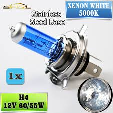 flytop h4 halogen l 12v 60 55w 5000k headlight bulb xenon