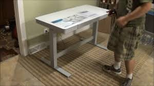Jesper Stand Up Desk by Tresanti Adjustable Height Motorized Standing Desk Costco Sku