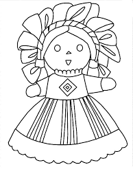 Mexican Dress Doll Coloring Pages