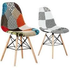 details zu moda flickwerk eiffel stuhl für esszimmer lounge stoff retro vintage modern