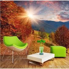 großhandel 3d stereo wald wald tapeten wandbild wohnzimmer sofa schlafzimmer pastorale landschaft tapete natur landschaft wallpaper feifan66