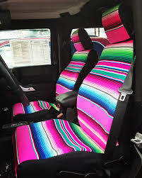 Serape Seat Covers - Made For Added Comfort And Durability
