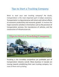 100 Start A Trucking Company Tips To Start A Trucking Company By Loadboardcanada Issuu