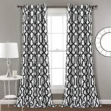 lush decor edward gardinen set für wohnzimmer esszimmer schlafzimmer verdunkelung weiß und schwarz 248 x 132 cm weiß und schwarz