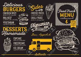 100 Design A Truck Food Menu For Street Festival Template With Handdrawn