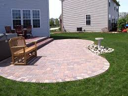 Paver Patio Ideas On A Budget by Paver Patio And Low Maintenance Deck Custom Designed And Built By