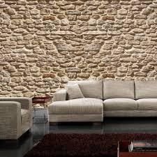 tapeten steinoptik wohnzimmer durch die steinoptik erhält