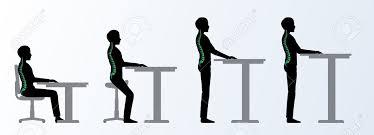 ergonomique hauteur bureau réglable ou une table assise et debout