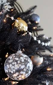 Use Transparent Baubles Look Equally Beautiful On Black Christmas Trees