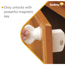 Magnetic Lock Kit For Cabinets by Complete Magnetic Locking System 4 Locks 1 Key Home Safety