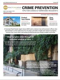 100 Condo Newsletter Ideas Crime Prevention For S And Townhome Residents John Catalano