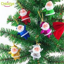 Colorful Small Santa Claus Pendant Christmas Tree Ornaments Supplies Decorations Victorian Vintage
