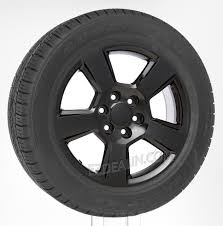 100 Oem Chevy Truck Wheels Gloss Black New Style LTZ 20 With Goodyear Eagle LS2 Tires