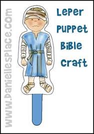 Leper Puppet Bible Craft From Daniellesplace For Childrens Sunday School