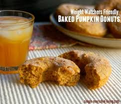 Pumpkin And Cake Mix Weight Watchers by Healthy Baked Pumpkin Doughnuts Weight Watchers Recipe