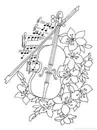 Full Image For Musical Instruments Coloring Pages 13