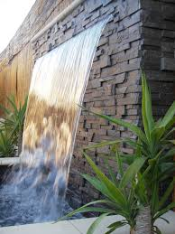 Water Features For Backyard Wall Sheer Classic Ideas