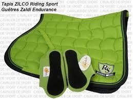 tapis de selle cso sport zilco vert anis mixte sellerie