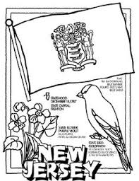 Crayola Coloring Page For Each State New Jersey