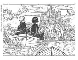 Coloring Pages Harry Potter And Treasure In Poudlard Page