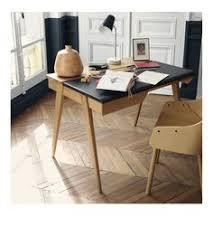 bureau en cuir bureau plateau aspect cuir 2 tiroirs watford la redoute