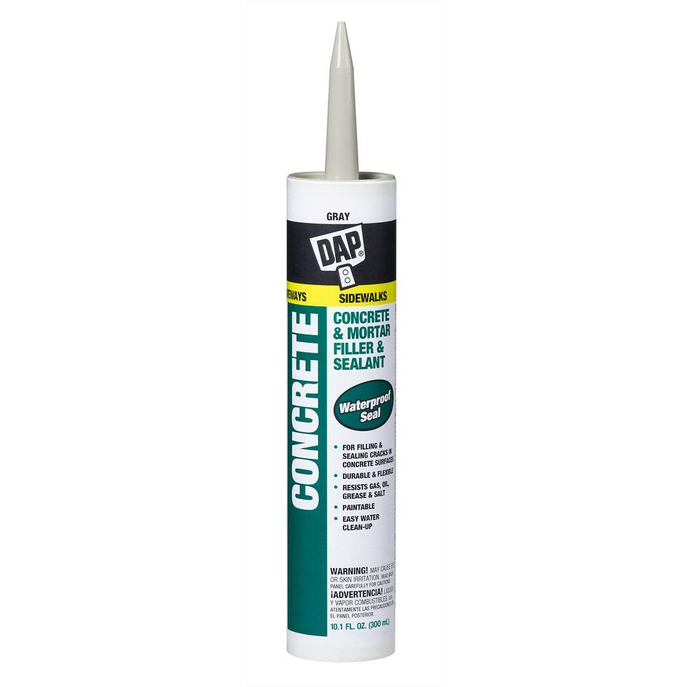 Dap Concrete and Mortar Watertight Filler and Sealant - Gray, 10.1oz